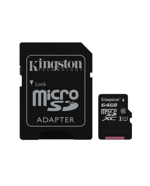 Карта памяти micro SDXC Kingston 64 Gb Class 10 (SDCS/64GB)