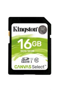 Карта памяти SDHC Kingston 16 GB SDS/16GB
